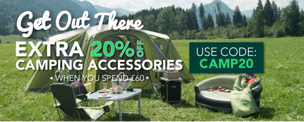 Extra 20% Off Camping Accessories CAMP20