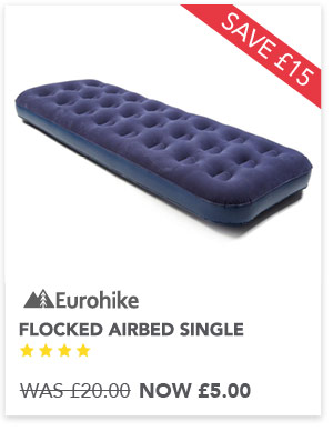 Flocked single airbed now £5