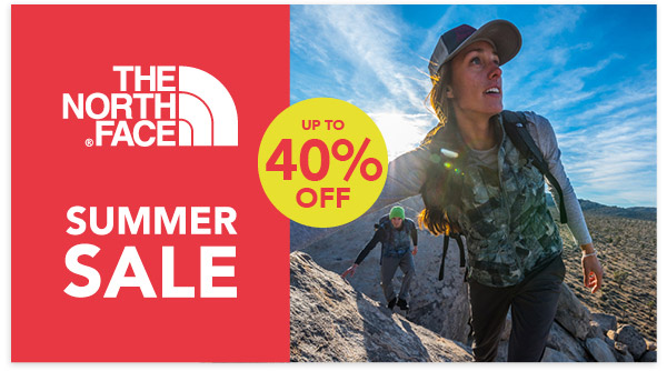 The North Face Summer Sale - Up to 40% Off