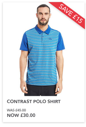 Contrast Polo shirt now £30