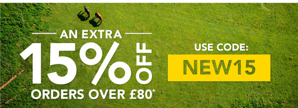 Extra 15% Off Orders over £80*