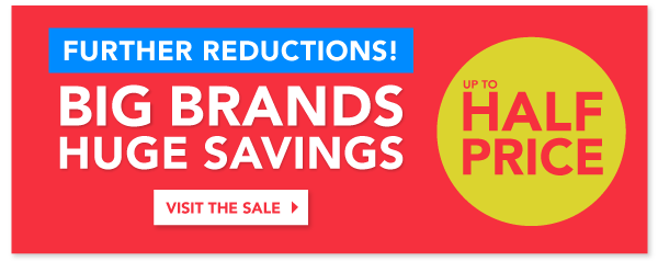 Big Brands, Huge Savings